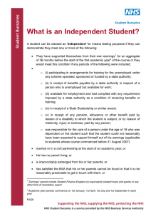 What is an Independent Student?