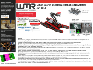 Urban Search and Rescue Robotics Newsletter Jan 2013