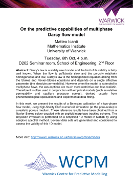 On the predictive capabilities of multiphase Darcy flow model