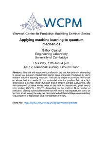 Applying machine learning to quantum mechanics