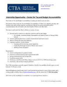 Internship Opportunity – Center for Tax and Budget Accountability