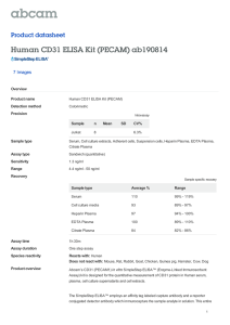Human CD31 ELISA Kit (PECAM) ab190814 Product datasheet 7 Images Overview