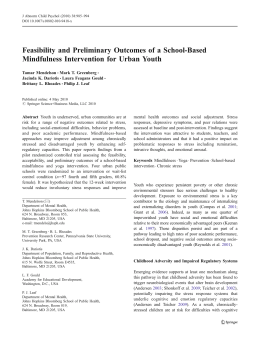 Feasibility and Preliminary Outcomes of a School-Based