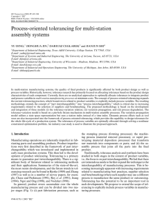Process-oriented tolerancing for multi-station assembly systems YU DING, JIONGHUA JIN,