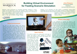 Building Virtual for Feeding Scenario Simulation Environment Alena Petrasova