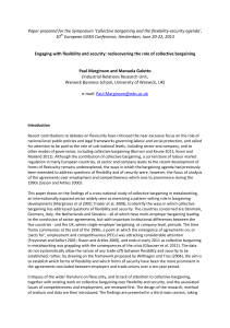 Paper prepared for the Symposium 'Collective bargaining and the flexibility-security... 10 European ILERA Conference, Amsterdam, June 20-22, 2013