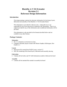 Blackfin A-V EZ-Extender Revision 2.1 Reference Design Information Introduction: