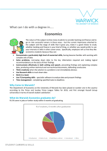Economics What can I do with a degree in…..