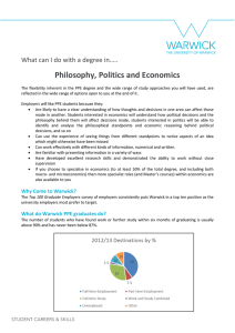 Philosophy, Politics and Economics