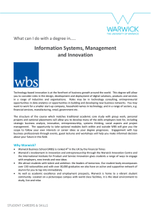 Information Systems, Management and Innovation