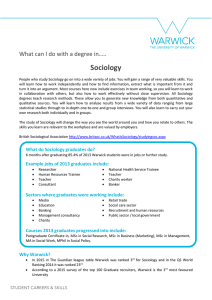 Sociology What can I do with a degree in…..