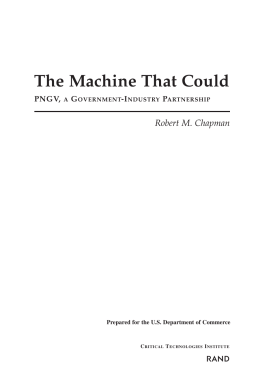 The Machine That Could R Robert M. Chapman PNGV,