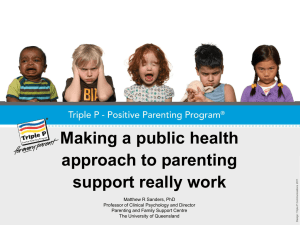 Making a public health approach to parenting support really work