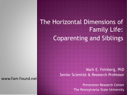 The Horizontal Dimensions of Family Life: Coparenting and Siblings