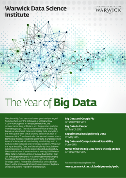 Big Data The Year of Warwick Data Science Institute