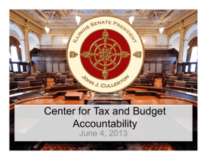 Center for Tax and Budget Accountability J 4 2013