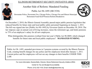 Another Side of Reform: Mandated Funding ILLINOIS RETIREMENT SECURITY INITIATIVE (IRSI)