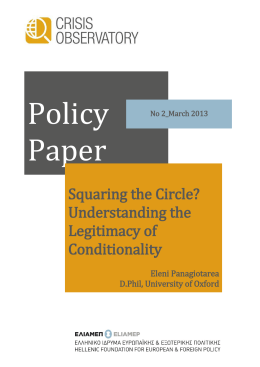 Policy Paper  Squaring the Circle?