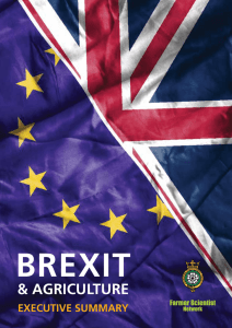 BREXIT  & AGRICULTURE EXECUTIvE sUmmARy