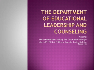 Presents: March 29, 2014 @ 12:00 pm: Juvenile Justice Building Room 155