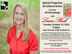 Laura Shook Special Programs & Cultural Series SPITKnowledge