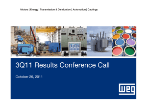 3Q11 Results Conference Call  October 26, 2011
