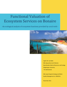 Functional Valuation of Ecosystem Services on Bonaire