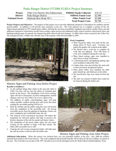 Parks Ranger District FY2006 FLREA Project Summary