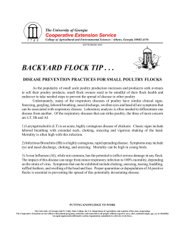 BACKYARD FLOCK TIP . . . Cooperative Extension Service