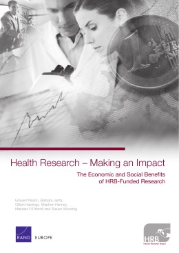 Health Research – Making an Impact of HRB-Funded Research
