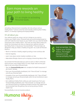 Earn more rewards on your path to living healthy Personal Goals.