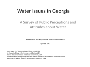 Water Issues in Georgia A Survey of Public Perceptions and
