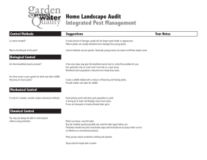 Home Landscape Audit Integrated Pest Management Control Methods Suggestions