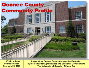 Oconee County Community Profile