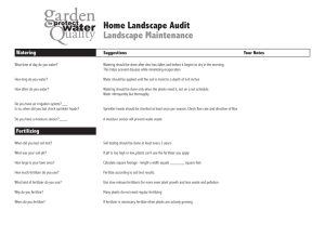Home Landscape Audit Landscape Maintenance Watering Suggestions
