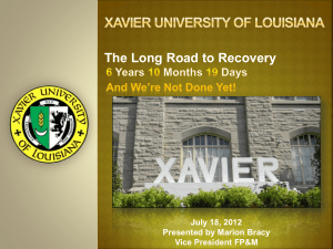 The Long Road to Recovery July 18, 2012 Presented by Marion Bracy