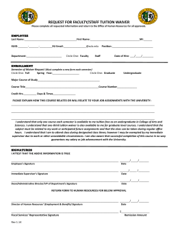 capilano application fee waiver code