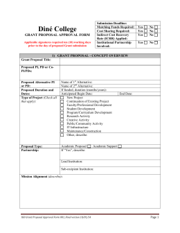Diné College GRANT PROPOSAL APPROVAL FORM