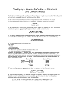 The Equity in Athletics/EADA Report 2009-2010 Dine College Athletics