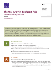 The U.S. Army in Southeast Asia Near-Term and Long-Term Roles