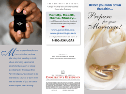 Prepare Marriage! for your 1-800-ASK-UGA1