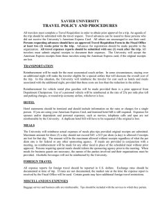 TRAVEL POLICY AND PROCEDURES XAVIER UNIVERSITY