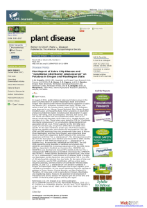 Editor-in-Chief: Mark L. Gleason Published by The American Phytopathological Society Previous Article