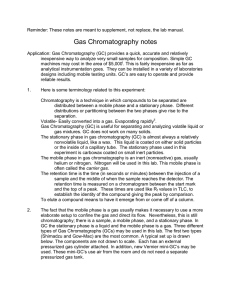 Gas Chromatography notes