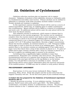 preparation of cyclohexene from cyclohexanol discussion