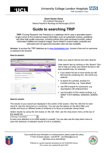 Guide to searching TRIP Queen Square Library