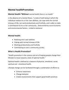 "Mental healthPromotion Mental Health:""Without"