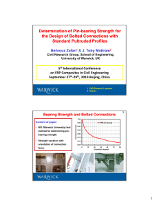 Determination of Pin Determination of Pin--bearing Strength for bearing Strength for