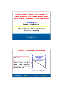 STABILITY ANALYSIS OF PLANE FRAMES OF FIBRE REINFORCED POLYMER HAVING SEMI -