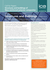 Structures and Buildings Call for Papers Structures and buildings of fibre-reinforced polymer composites